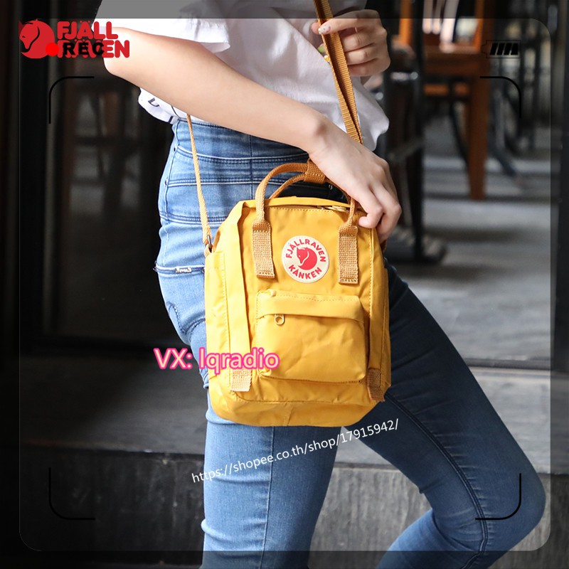 kanken กระเป๋าแขวน แท้ kanken sling bag ของแท้ 100% สีเหลือง