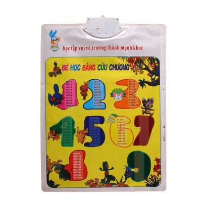 [GIÁ SẬP SÀN] Bảng chữ cái và chữ số tiếng Việt điện tử nói treo tường cho bé [VPP Minh...