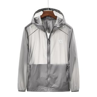 (Chống Nắng) Ice Silk Quần Áo Chống Nắng Mới Áo Khoác Nam Mùa Hè Siêu Mỏng Thoáng Khí Áo Khoác Nam Men Jacket