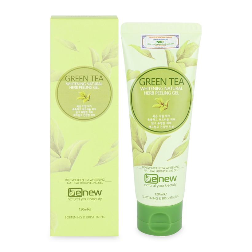 Tẩy tế bào chết trà xanh cao cấp Hàn Quốc Benew Green Tea Peeling Gel 120ml