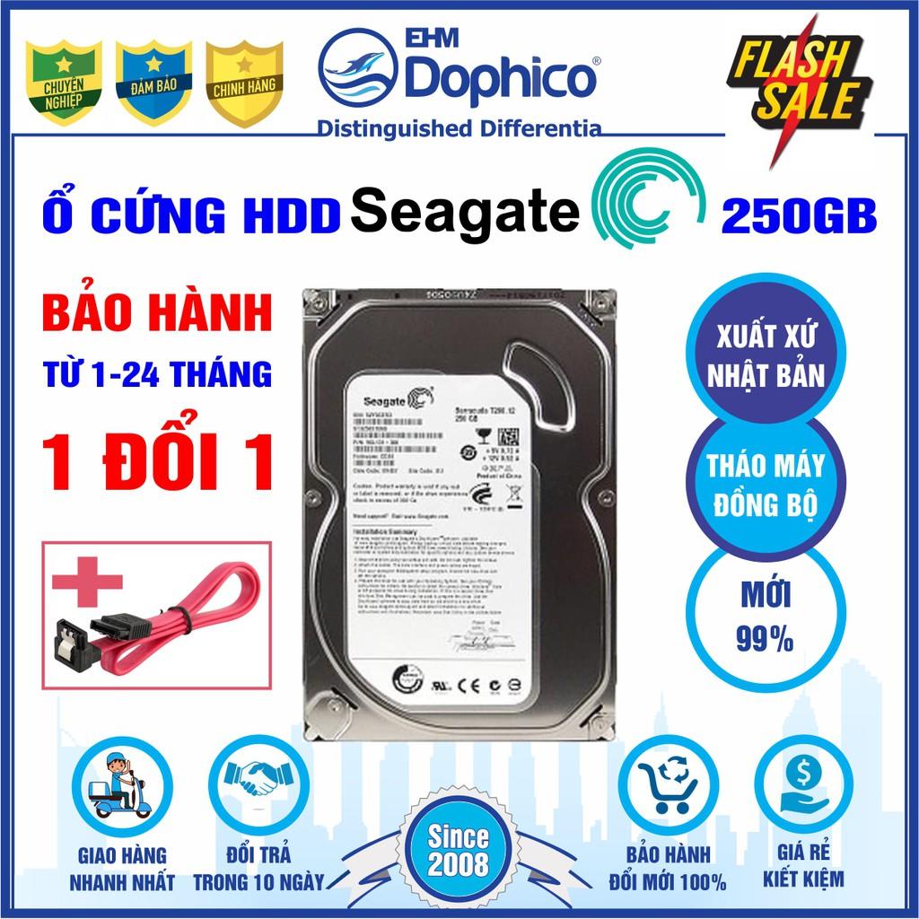 """5 Option Ổ cứng HDD 3.5"""" Seagate 250GB Chính Hãng – Bảo hành từ 1-24 tháng 1 đổi 1 – Tháo máy đồng bộ mới 99%"""