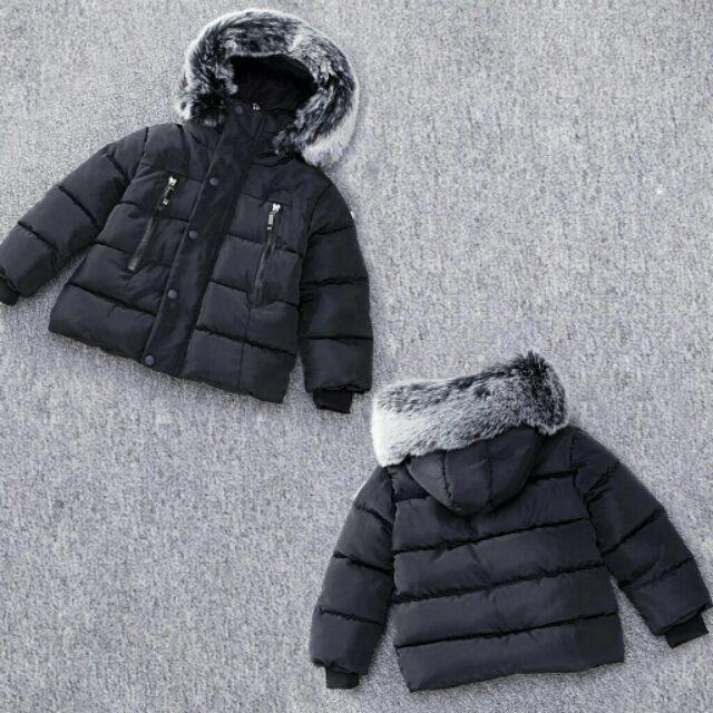 [THANH LÝ] áo phao cho bé màu đen cho bé 3-5t