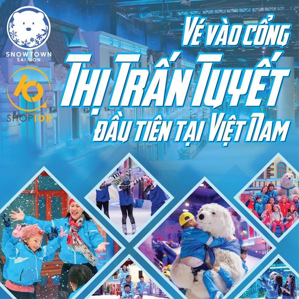 HCM [Voucher] 02 Vé vào Snow Town khu vui chơi thành phố tuyết lớn nhất Sài Gòn dành cho 2
