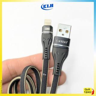 Cáp sạc nhanh iphone, Micro, TypeC bọc dù siêu bền, Dây xạc cao cấp truyền dữ liệu chính hãng Earldom 084 KLH shop