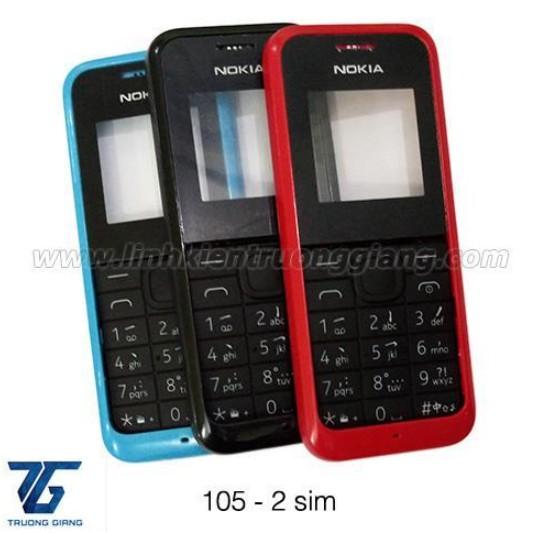 Bộ vỏ + phím xịn cho Nokia 105 2sim đủ màu