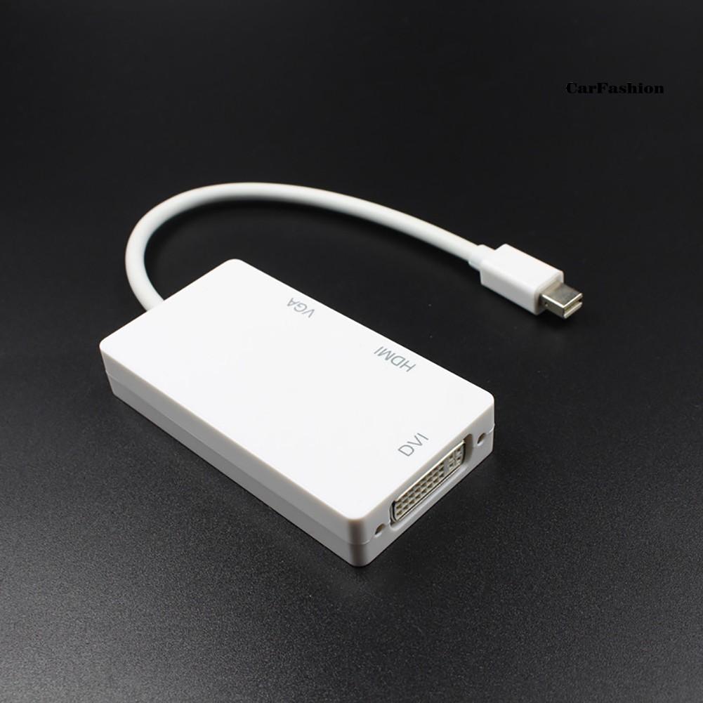 Cáp Chuyển Đổi Chs3 Trong 1 Từ Cổng Mini Display Port Dp Sang Hdmi Vga Dvi Cho Macbook Pro Air