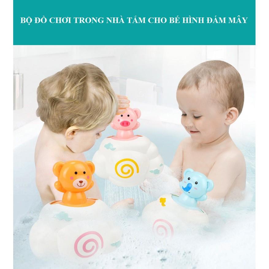 BỘ ĐỒ CHƠI TRONG NHÀ TẮM CHO BÉ HÌNH ĐÁM MÂY - đồ chơi an toàn cho trẻ nhỏ