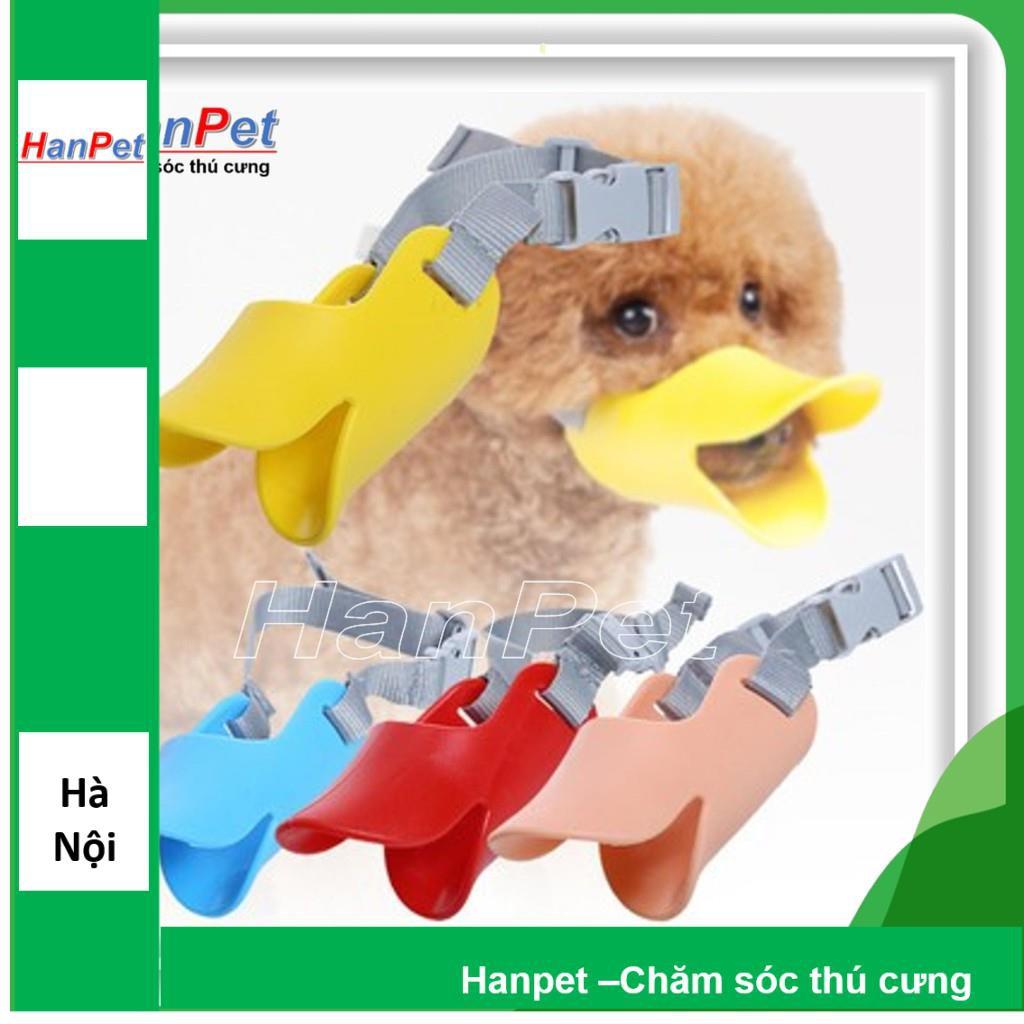 Rọ mõm cho chó hình mỏ vịt nhựa dẻo (3 size ) phù hợp bé có vòng mõm nhỏ|S (chu vi 13-16cm)