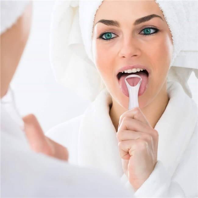 Dụng cụ nạo lưỡi, vệ sinh lưỡi người lớn bằng Inox, thép không gỉ, cạo lưỡi, hết rêu lưỡi, hơi thở hôi, nóng cây rơ lưỡi
