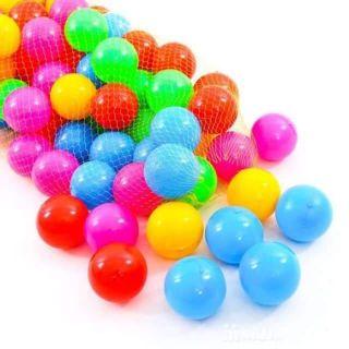 Túi 100 Bóng nhựa đủ màu cho bé yêu nhà bạn thoải mái vui chơi.