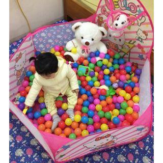 Lều bóng / quây bóng cho bé tặng kèm 100 bóng 5cm nhiều màu sắc