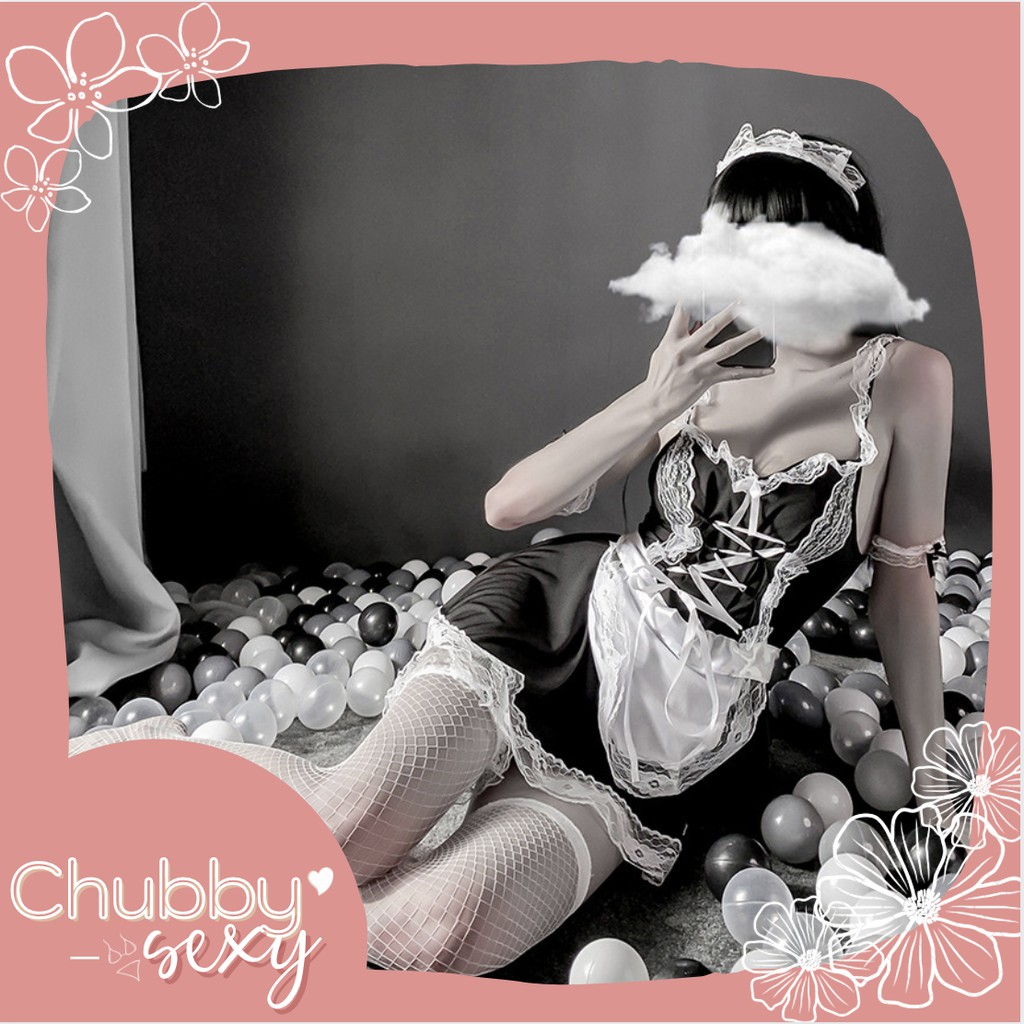 Mặc gì đẹp: Cosplay Hầu Gái Nhật Bản Sexy - Bộ Đồ Ngủ Cô Giúp Việc Quyến Rũ Gợi Cảm - Maid Cosplay Outfit - CPL01-Chubby.Sexy