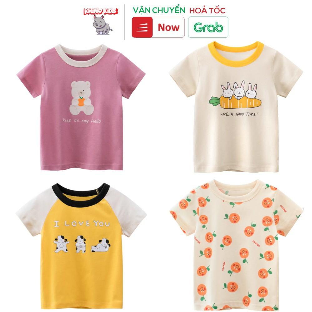 Áo thun bé gái 27Home in hình cute dễ thương chất liệu cotton an toàn cho bé hàng chuẩn xuất Âu Mỹ