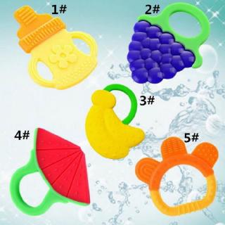 ✿☌☌New Baby Teether Infant Training Chewable Silicone Toddler Toy Bendable Yummy Safe Chew Toy