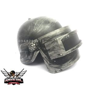 Custom skin kim loại Mũ 3 PUBG cosplay