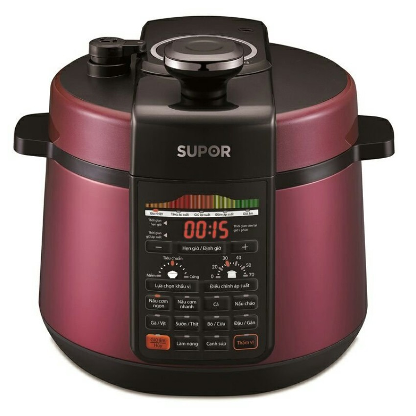 Nồi áp suất điện Supor CYSB50YC520QVN-100 5L (Đỏ) - 3519947 , 962054488 , 322_962054488 , 1990000 , Noi-ap-suat-dien-Supor-CYSB50YC520QVN-100-5L-Do-322_962054488 , shopee.vn , Nồi áp suất điện Supor CYSB50YC520QVN-100 5L (Đỏ)