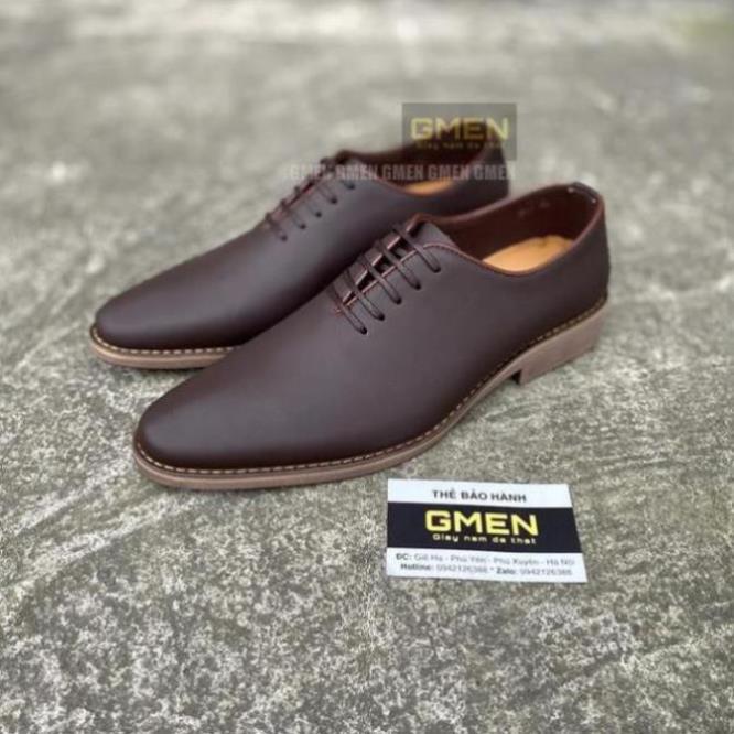 [Sale 3/3]Giày tây nam cao cấp da bò mềm mại đế cao su êm chân phong cách trẻ trung lịch lãm GM566 -pi9