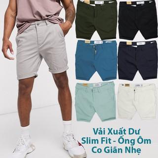 Quần Short Kaki Nam Slim Fit Co Giãn Vải Xuất Dư