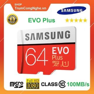 [Mã ELMSM3 giảm 20K đơn bất kỳ] Thẻ nhớ 64GB Samsung Plus Class10 100Mb/s Tốc độ cao
