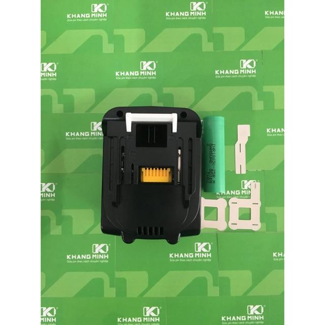 KM Pin Makita 14.4V 5.0Ah, cell Samsung INR18650-25R, nhận sạc zin Makita.