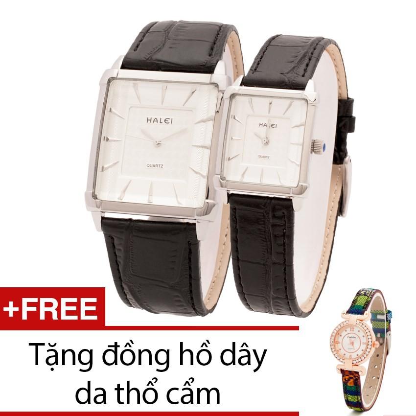 Đồng hồ đôi Halei mặt vuông dây da tặng kèm 1 đồng hồ thổ cẩm - 2466853 , 101484181 , 322_101484181 , 800000 , Dong-ho-doi-Halei-mat-vuong-day-da-tang-kem-1-dong-ho-tho-cam-322_101484181 , shopee.vn , Đồng hồ đôi Halei mặt vuông dây da tặng kèm 1 đồng hồ thổ cẩm