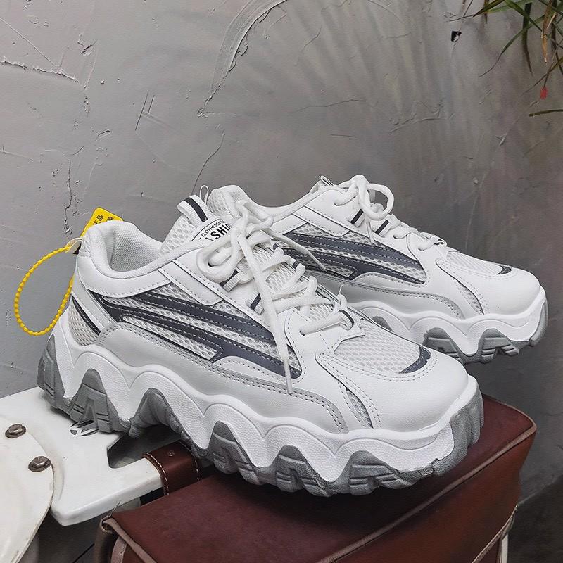 Giày nam tăng 5cm chiều cao đế lượn Full Phản Quang H009 siêu phẩm 2021 - giày thể thao nam