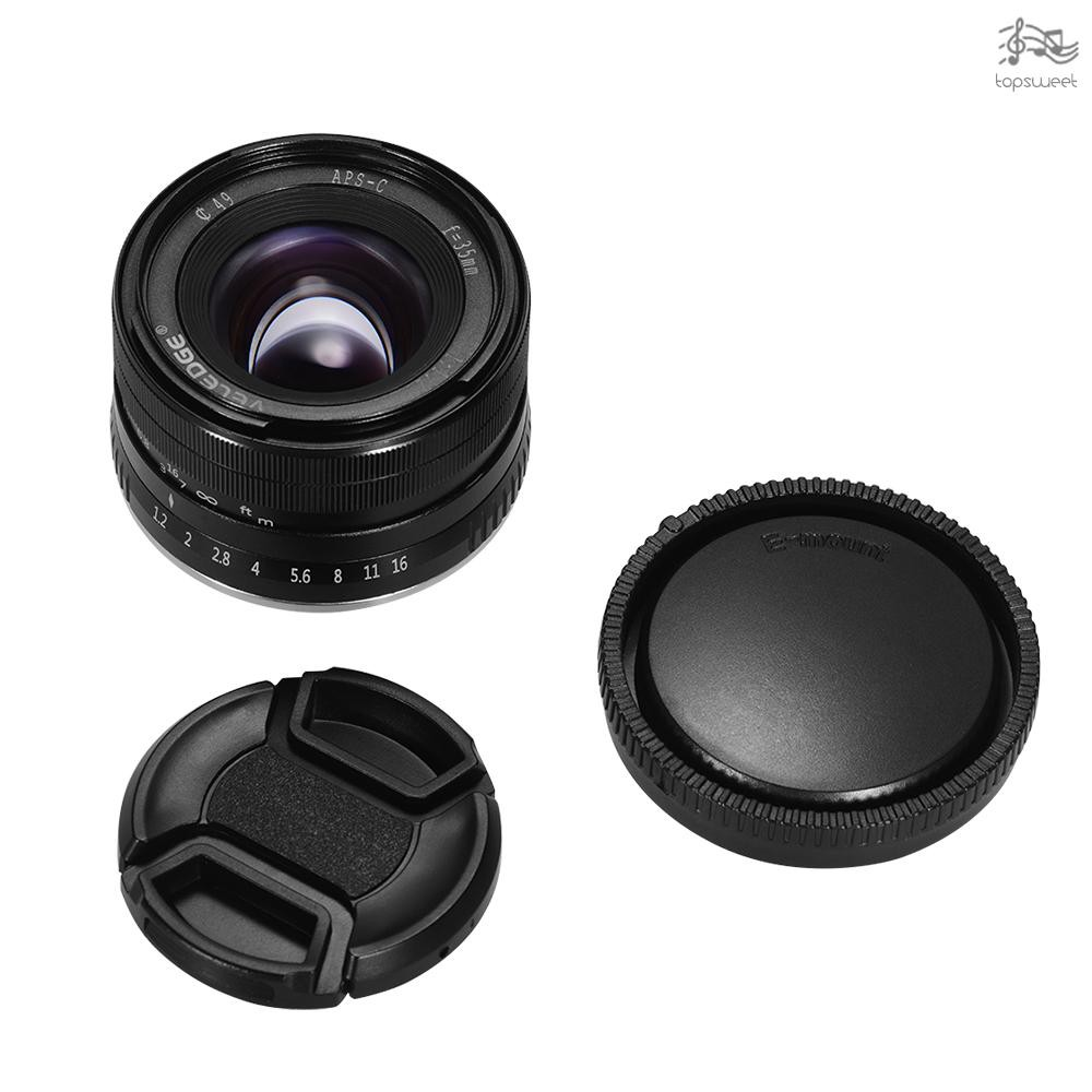 TS* VELEDGE 35mm F/1.2 Super High Resolution Large Aperture Standard Camera Prime Lens Lightweight MF Manual Focus Lens