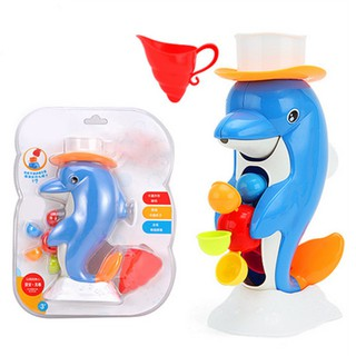 Bath Waterwheel Bathtub Water Dolphin Toy For Children Baby Bath Play Game Time