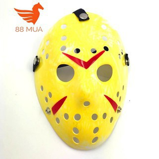 Mặt nạ Jason hóa trang Halloween leegoal Màu Vàng Đậm Lỗ tròn-f71