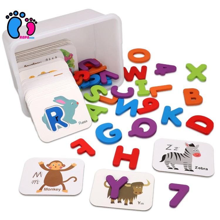 72 Thẻ gỗ ghép hình học tiếng anh cho bé, giúp bé tăng khả năng tư duy