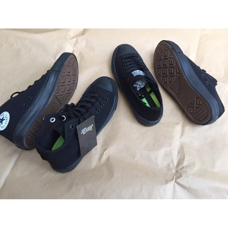 [SALE GIÁ GỐC] Giày Converse Chuck 2 màu Đen full (All Black)