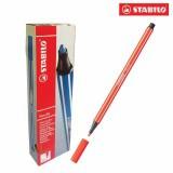 Hộp 10 cây bút lông màu STABILO Pen 68 (đỏ tươi)