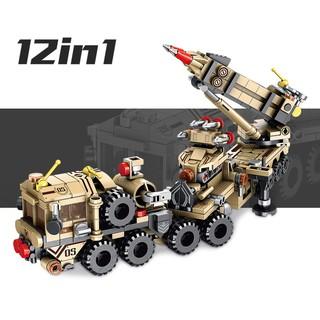 Bộ Đồ Chơi Lắp Ráp LEGO Tên Lửa PATRIOT PANLOS 12 in 1 Model 633011 – 549 Chi Tiết Giúp Trẻ Phát Triển Trí Tuệ