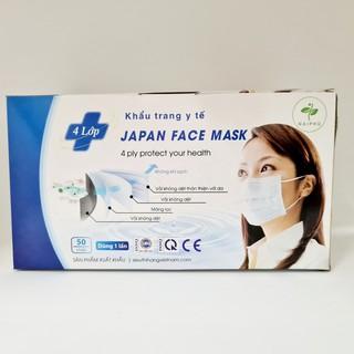 [Hàng công ty, Có kiếm định] Khẩu trang y tế 4 lớp, hộp 50 chiếc (có tách lẻ) tác dụng kháng khuẩn, lọc khói bụi độc hại thumbnail
