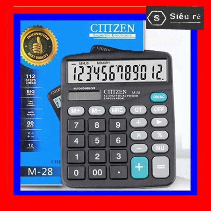 Máy tính Casio M-28 Citizen 12 chữ số sử dụng năng lượng mặt trời và pin (PD5267)