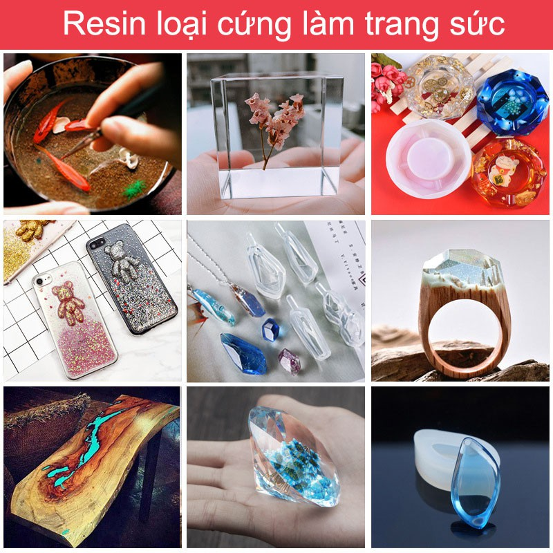 Keo cứng siêu trong Crystal Clear Epoxy Resin