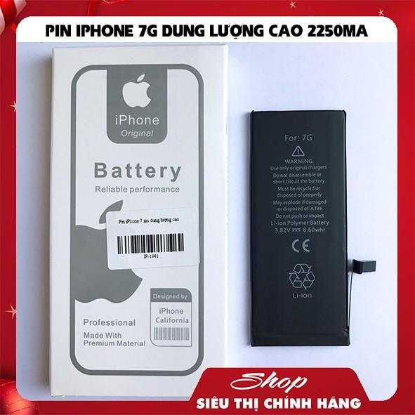 PIN IPHONE 7 - DUNG LƯỢNG CAO 2250MA BẢO HÀNH 12 THÁNG
