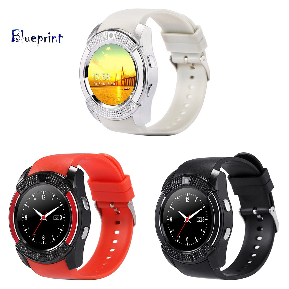 ☞BPV8 Smart Wrist Watch Bluetooth Calling Sleep Monitor Anti-Lost for iOS Android