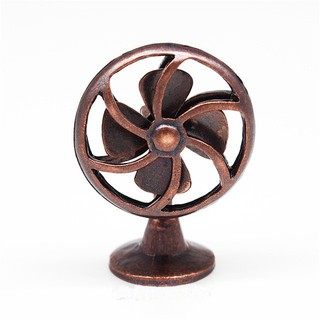 Dollhouse Miniature 1:12 Retro Alloy Electric Fan