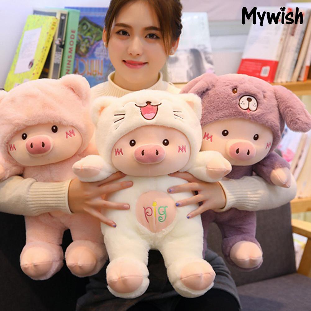 MYWISH Funny Pig Coplay Cats Bear Doll Plush Stuffed Toy Children Birthday Xmas Gift