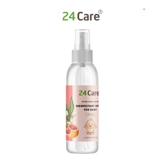 Xịt kháng khuẩn, khử mùi, đồ vật cho bé 24care - 100ml thumbnail