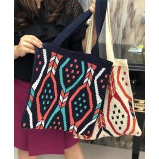 Túi len vintage hoạ tiết xinh iu (video, ảnh thật)