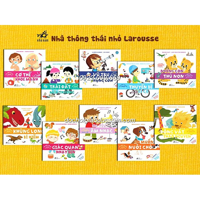 Sách nhà thông thái nhỏ larousse - Trọn bộ 10 cuốn