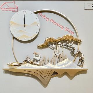 [Mẫu Mới] Đồng Hồ Treo Tường Trang Trí Thảo Nguyên TP-082 (Hàng Loại 1)