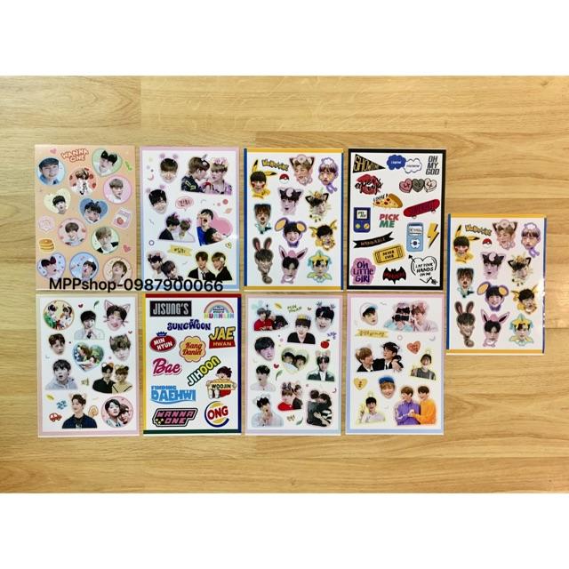Combo 9 tấm ảnh sticker WANNAONE couple và cả nhóm