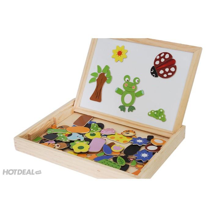 Bộ đồ chơi ghép hình bằng gỗ 2 mặt gắn nam châm - bé thỏa sức sáng tạo - 3540954 , 1172685109 , 322_1172685109 , 219000 , Bo-do-choi-ghep-hinh-bang-go-2-mat-gan-nam-cham-be-thoa-suc-sang-tao-322_1172685109 , shopee.vn , Bộ đồ chơi ghép hình bằng gỗ 2 mặt gắn nam châm - bé thỏa sức sáng tạo