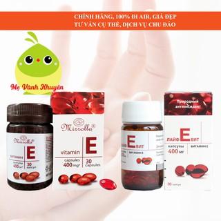 Vitamin E đỏ 400mg cho phụ nữ trên 12 tuổi Mirrolla Zentiva, Nga (30v) thumbnail