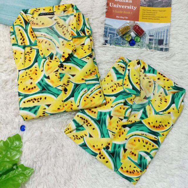Mặc gì đẹp: Ngủ ngon với Pijama Kate Thái Hoa Quả Đi Biển Hàng Loại 1 [ Nam Nữ ]