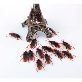 10pcs Pop Scary Rubber Roach Toys Bug Simulation Cockroach Realistic