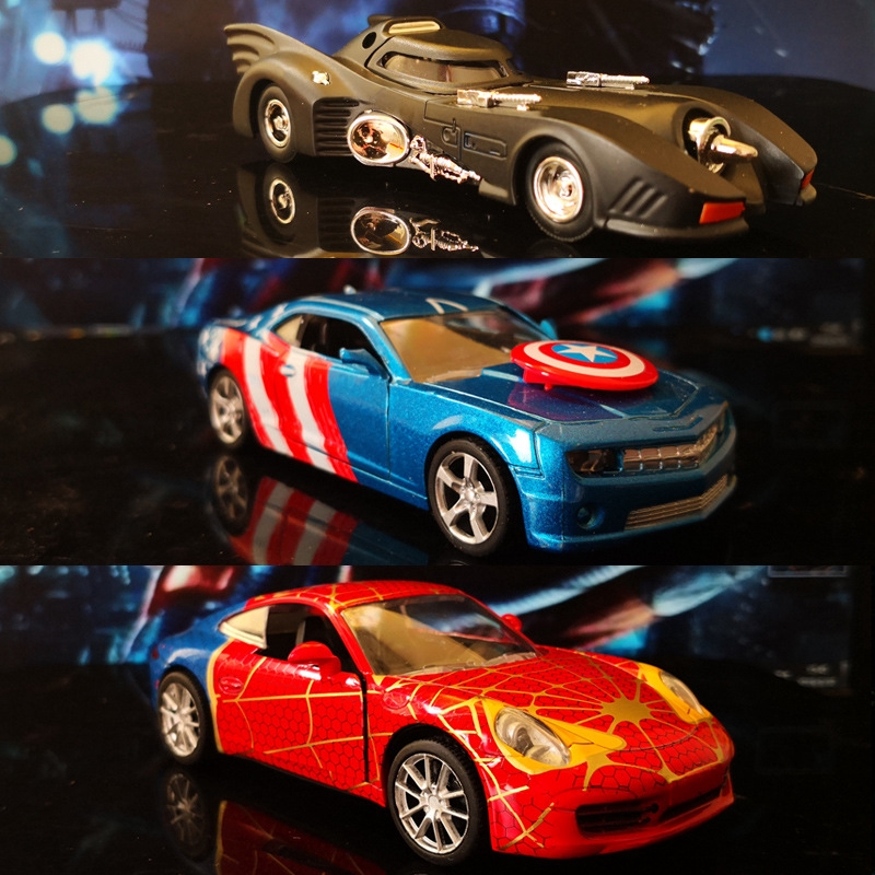 Hero Series Alloy Toy Return Vehicle Arrangement Vehicle Interior Jewelry On-board Console Decoration Supplies